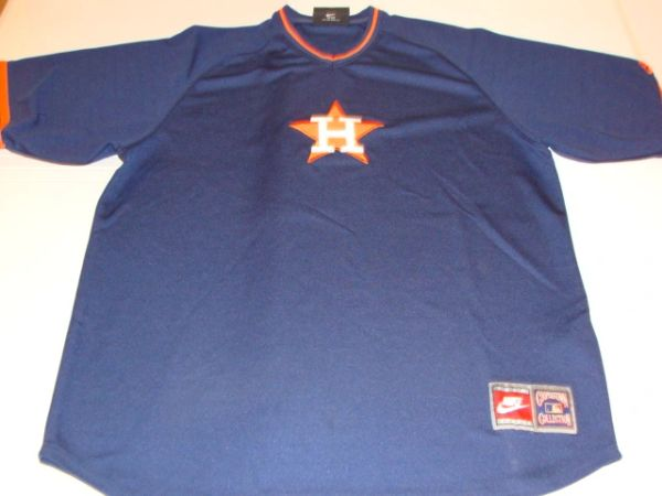 HOUSTON Astros MLB Baseball Blue Throwback Team Jersey Shirt