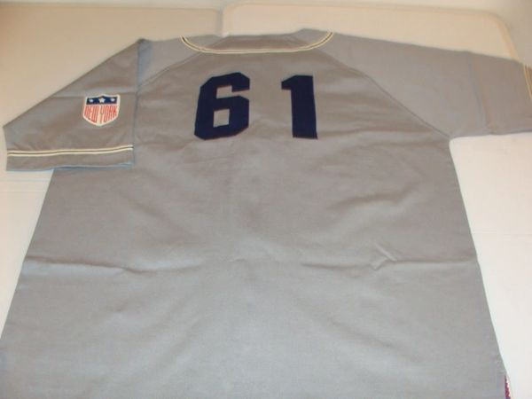 #61 NEW YORK Yankees MLB Baseball Grey Throwback Team Jersey