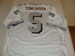 #5 LaDAINIAN TOMLINSON TCU Horned Frogs NCAA RB White Throwback Youth Jersey