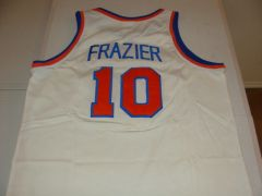 #10 WALT FRAZIER New York Knicks NBA Guard White Throwback Youth Jersey