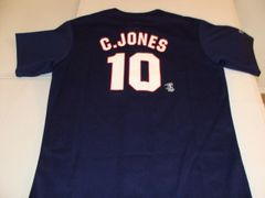 #10 CHIPPER JONES Atlanta Braves MLB 3B/OF Blue Throwback Youth Jersey