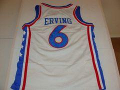 #6 JULIUS ERVING Philadelphia 76ers NBA Forward White Throwback Youth Jersey