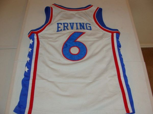 #6 JULIUS ERVING Philadelphia 76ers NBA Forward White Throwback Youth Jersey