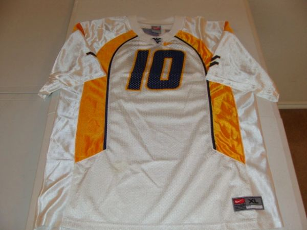 #10 WEST VIRGINIA Mountaineers NCAA Football White Throwback Youth Jersey