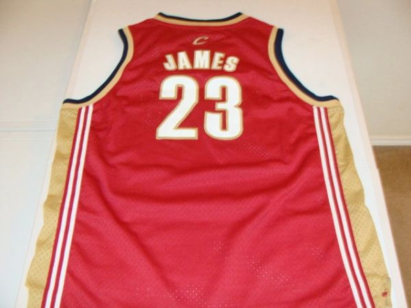 #23 LeBRON JAMES Cleveland Cavaliers NBA Forward Red Throwback Youth Jersey