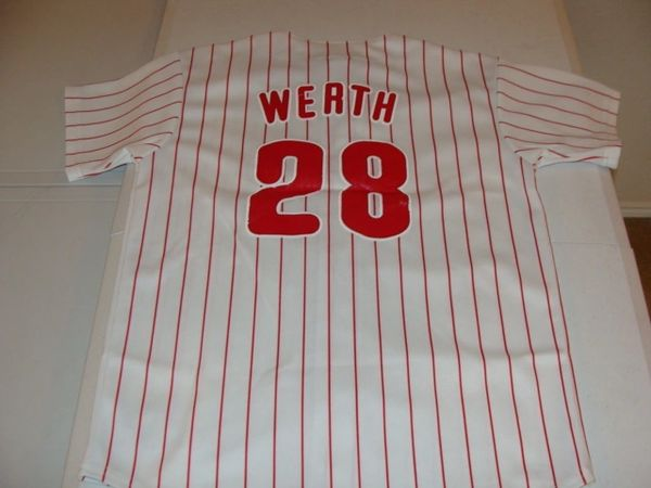 #28 JAYSON WERTH Philadelphia Phillies MLB OF White PS Throwback Youth Jersey