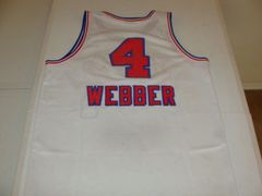 #4 CHRIS WEBBER Sacramento Kings NBA PF/C White Throwback Youth Jersey