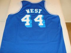 #44 JERRY WEST Los Angeles Lakers NBA Guard Blue Throwback Youth Jersey