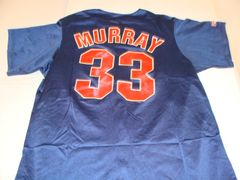 #33 EDDIE MURRAY Cleveland Indians MLB 1B/DH Blue Throwback Youth Jersey