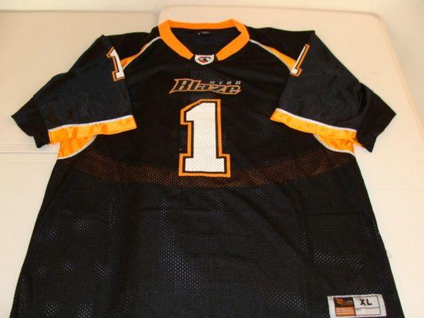 #1 UTAH Blaze AFL Football Black Throwback Team Jersey