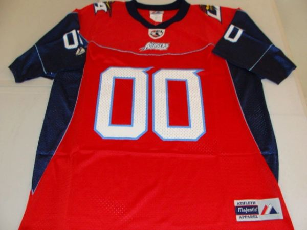 #00 LOS ANGELES Avengers AFL Football Red/Blue Throwback Team Jersey