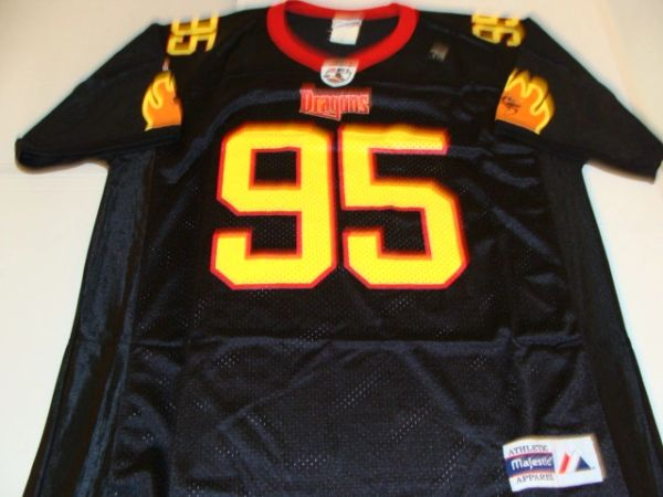 #95 NEW YORK Dragons AFL Football Black Throwback Team Jersey
