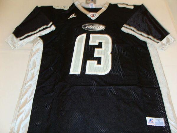 #13 SHERDRICK BONNER Chicago Rush AFL QB Black Throwback Mint Jersey