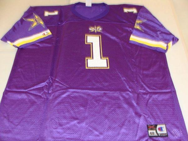 #1 BIRMINGHAM Thunderbolts XFL Football Purple Team Jersey