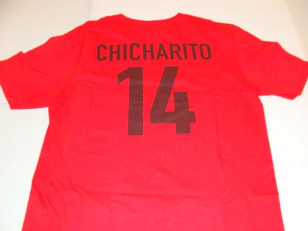 #14 Javier CHICHARITO Hernandez Manchester United EPL Striker Red Throwback Tshirt