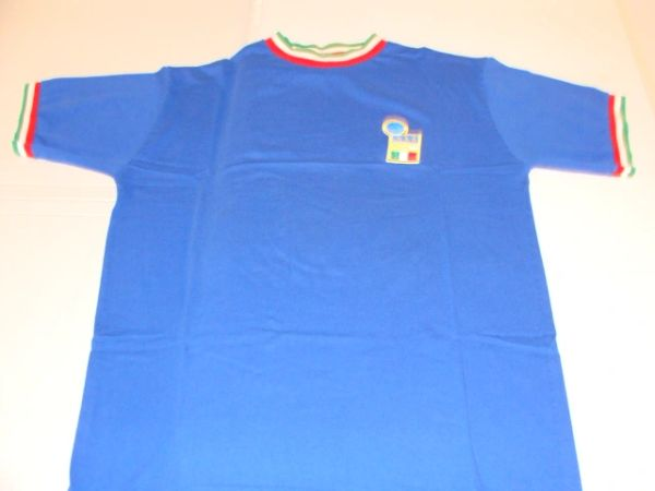 ITALIA FIGC UEFA Football Blue Throwback Tshirt