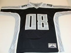 #08 BROOKLYN City Wide Black/Silver Throwback Football Style Youth Jersey