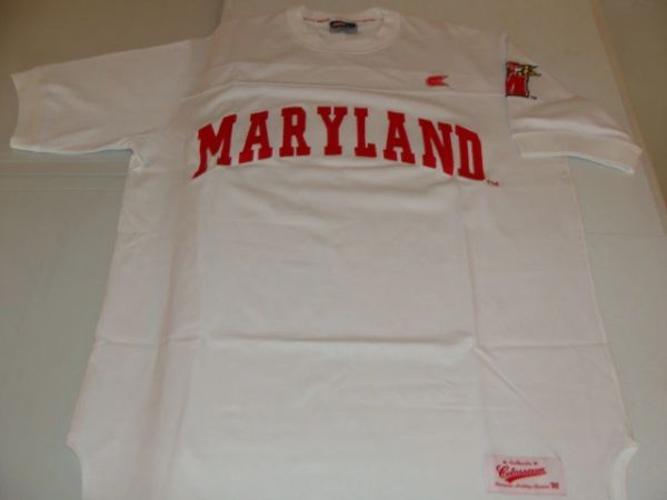 MARYLAND Terrapins NCAA White Throwback Tshirt