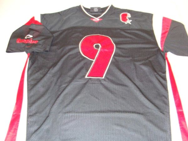 #9 EMPIRE Brand Black Throwback Football Style Jersey