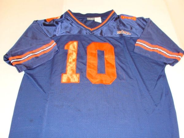 #10 (Chicago Bears-XXL) Blue Throwback Football Style Jersey