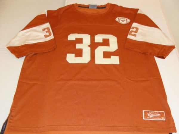 #32 TEXAS Longhorns NCAA Football Orange Throwback Team Jersey