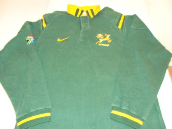 SA Rugby National Team Springboks Green L/S Throwback Jersey