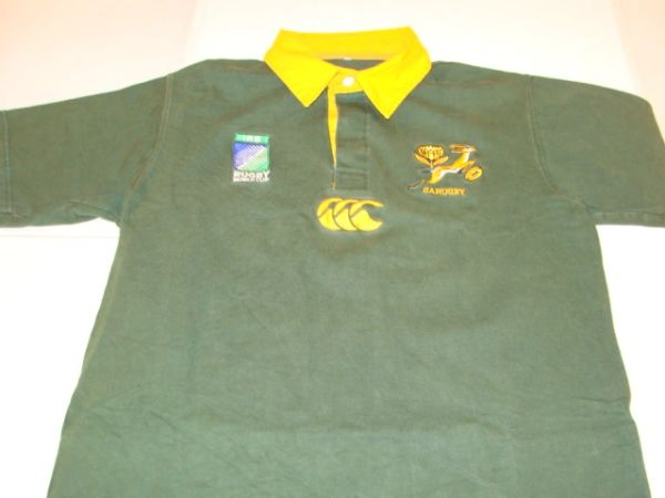 SA Rugby Springboks iRB Rugby World Cup Green Throwback Team Jersey
