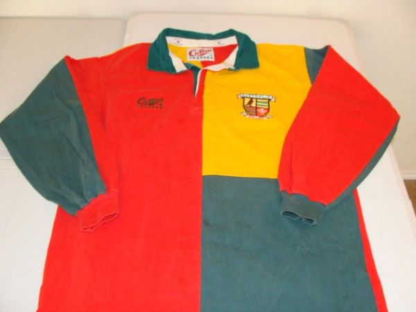 AUSTRALIA v WALES Rugby Union Multi Colored L/S Throwback Jersey