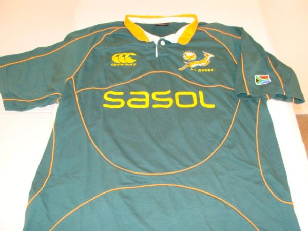 SA Rugby National Team Springboks Green S/S Throwback Jersey