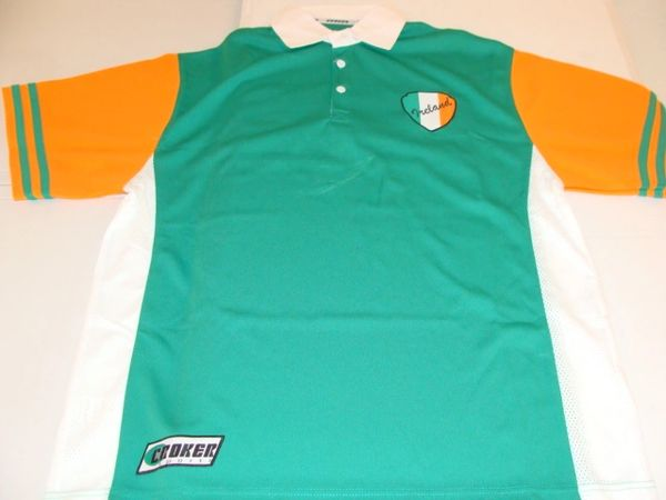 #32 Team IRELAND International Green/Orange Throwback Polo Shirt