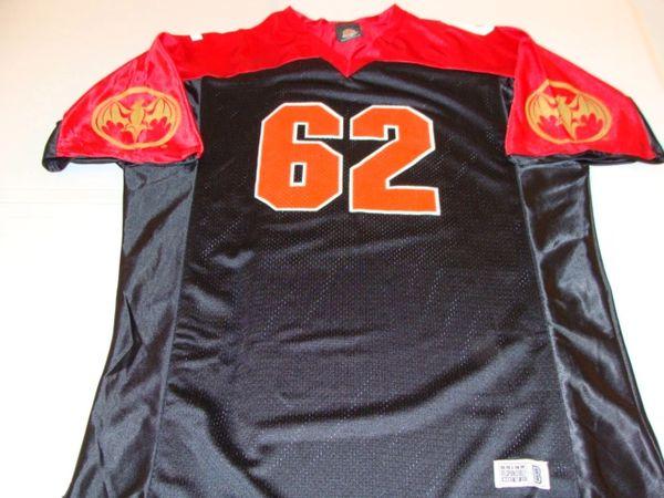 #62 BACARDI Rum Liquor Black/Red Throwback Football Style Jersey