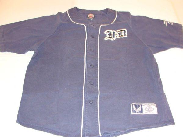 HARLEY-DAVIDSON Motorcycles Blue Throwback Baseball Style Jersey