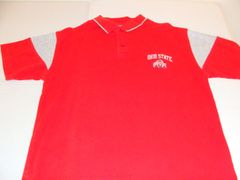 OHIO STATE Buckeyes NCAA Red Throwback Polo Shirt