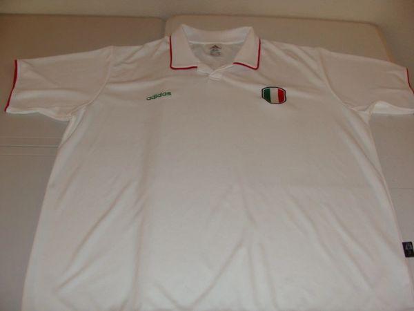 ITALIA Football UEFA White Throwback Polo Shirt