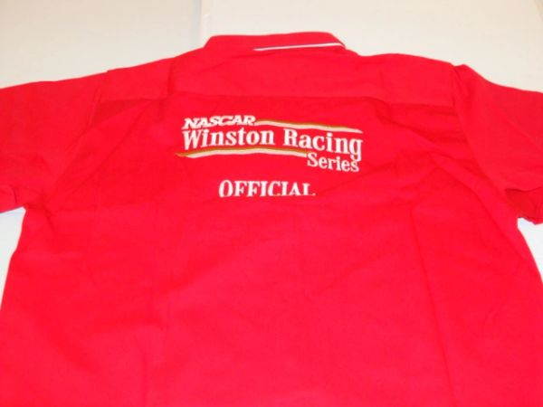 NASCAR Winston Racing Series Official Red S/S Button Down Mint Dress Shirt