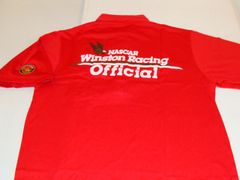 NASCAR Winston Racing Series Official Red S/S Pullover Mint Polo Shirt