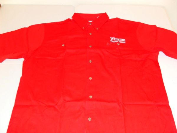 WINSTON Thunder Theater Staff Red S/S Button Down Mint Dress Shirt