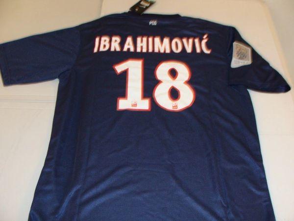 finest selection 69ad6 54543 #18 ZLATAN IBRAHIMOVIC Paris Saint-Germain Ligue 1 Striker Blue Mint  Throwback Uniform Kit
