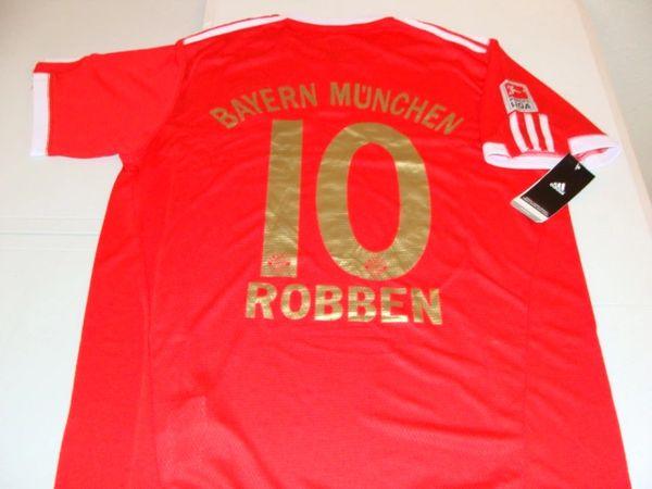 huge selection of d0516 ab1a5 #10 ARJEN ROBBEN FC Bayern Munchen Bundesliga Winger Red Mint Throwback  Uniform Kit
