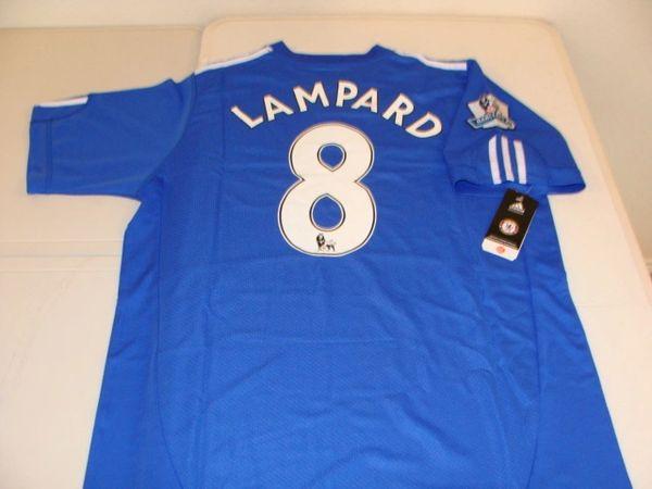 classic fit 57259 4ef48 #8 FRANK LAMPARD Chelsea FC EPL MF Blue Mint Throwback Uniform Kit