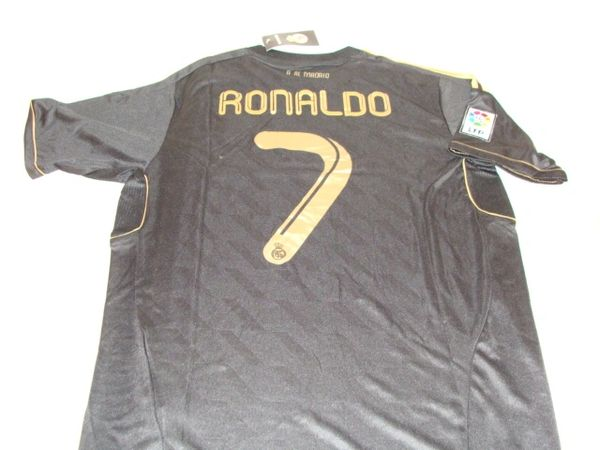 timeless design 5548b 661b0 #7 CRISTIANO RONALDO Real Madrid CF La Liga Forward Black Mint Throwback  Uniform Kit