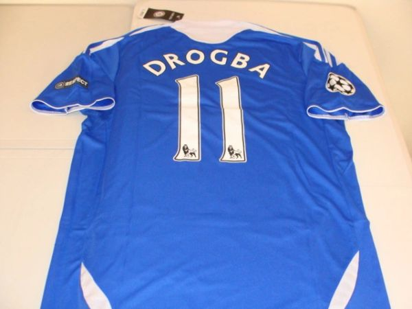 size 40 7ff4c 0cb96 #11 DIDIER DROGBA Chelsea FC EPL Striker Blue Mint Throwback Uniform Kit