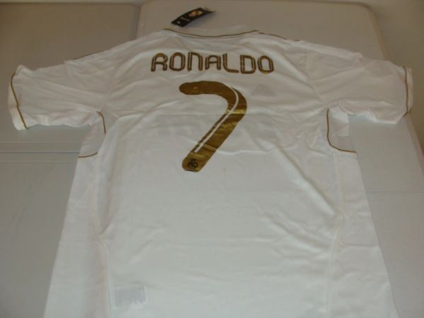 #7 CRISTIANO RONALDO Real Madrid CF La Liga Forward White Mint Throwback Uniform Kit