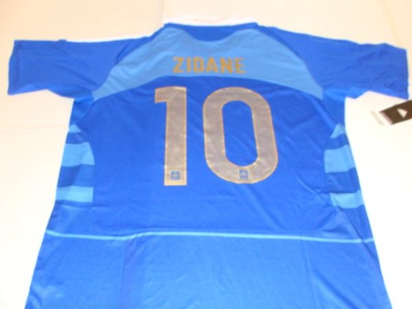 #10 ZINEDINE ZIDANE France National Team FIFA MF Blue Mint Throwback Uniform Kit