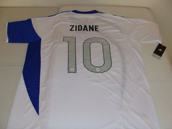 #10 ZINEDINE ZIDANE France National Team FIFA MF White/Blue Mint Throwback Uniform Kit