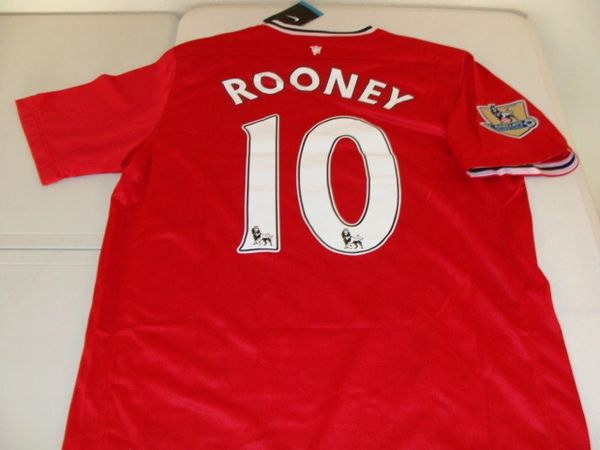 #10 WAYNE ROONEY Manchester United EPL F/MF Red/White Mint Throwback Uniform Kit
