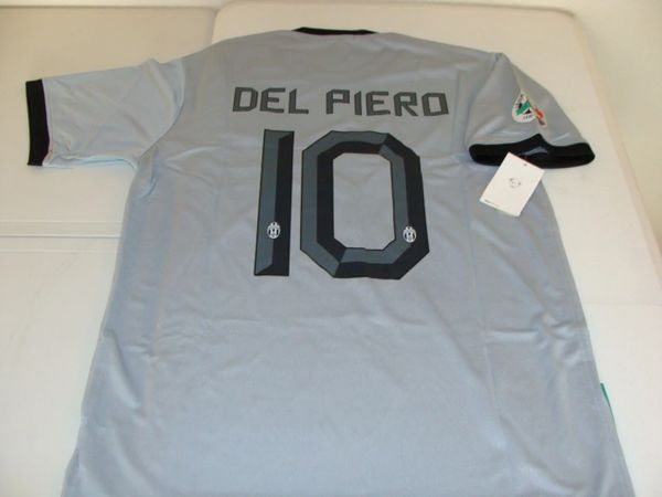 #10 ALESSANDRO DEL PIERO Juventus FC Serie A Forward Grey/Black Mint Throwback Uniform Kit