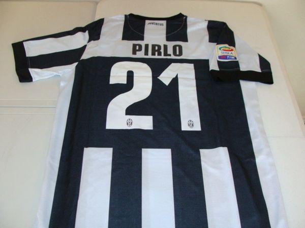 #21 ANDREA PIRLO Juventus FC Serie A MF Black/White Mint Throwback Uniform Kit