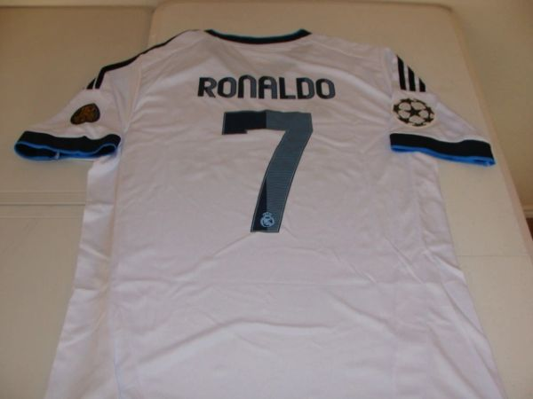 "#7 CRISTIANO RONALDO Real Madrid CF La Liga Forward White ""110th Anniversary"" Mint Throwback Uniform Kit"
