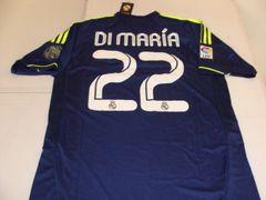 "#22 ANGEL DI MARIA Real Madrid CF La Liga Winger/MF Blue ""110th Anniversary"" Mint Throwback Uniform Kit"